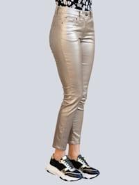Jeans met modieuze folieprint