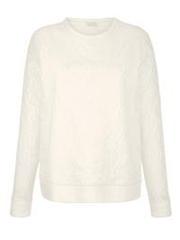 Sweatshirt met bloemenkant