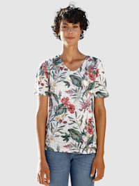T-shirt en matière dévorée
