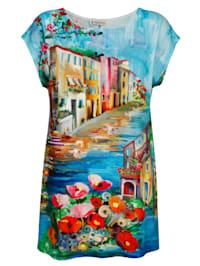 Strandshirt mit Aquarelldruck