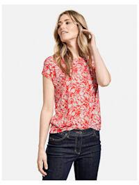 Shirt mit Blätterprint EcoVero