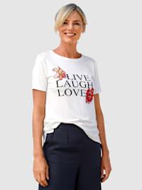 T-shirt à fleurs brodées