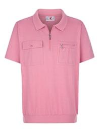 Poloskjorte med bred elastisk nederkant