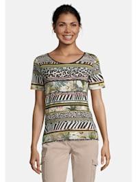 Basic Shirt mit Aufdruck