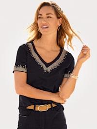Shirt met trendy details