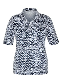 Shirt mit getupftem Muster und kurzen Ärmeln