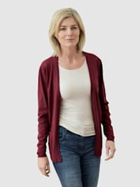 Cardigan in offener Form