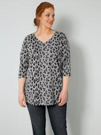 Tričko s lesklým okrajem na výstřihu