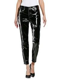 Leren broek in trendy model