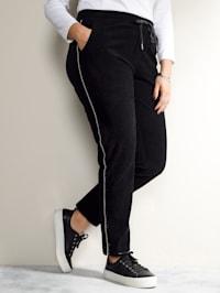 Nohavice s dekoratívnym pásom