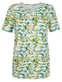 Shirt mit Zitronen-Druck