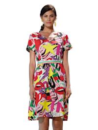 Klänning med färgstarkt tryck
