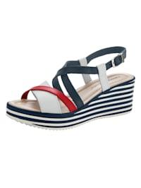 Sandaaltje in maritieme look