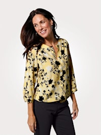 Blouse in a floral print