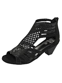Sandaaltje met ton-sur-ton siersteentjes