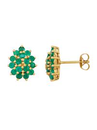 Kultaiset smaragdikorvakorut