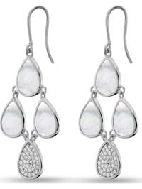 JETTE Damen-Ohrhänger 925er Silber 70 Zirkonia