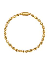 Bracelet maille cordon en or jaune 585