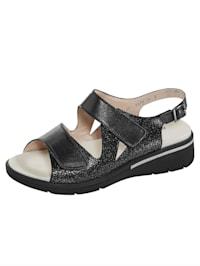 Sandale mit verstellbarem Fersenriemchen
