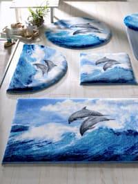 Badrumsserie med delfiner