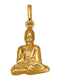 Buddha-Anhänger in Gelbgold 585