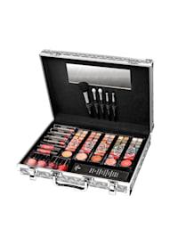 Kosmetikkoffer Aus Aluminium mit allem, was Sie für ein makelloses Make-up benötigen