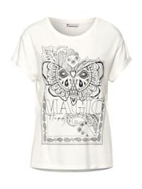 T-Shirt mit Schimmer Print