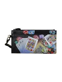 Brieftasche High Roller aus handbemaltem Leder