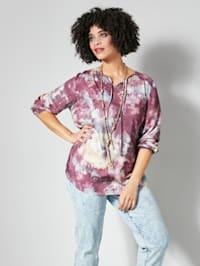 Tunika-Bluse im angesagten Batikmuster
