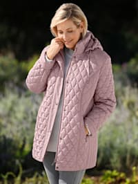 Gewatteerde jas met doorgestikt patroon
