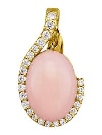 Clipshänge med opal och vita cubic zirconia