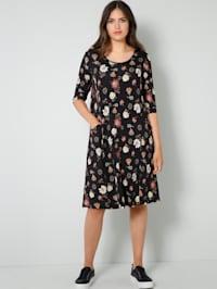 Jersey jurk met bloemenprint