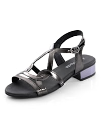 Sandalette in reflektierender Mirroroptik