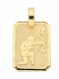 1001 Diamonds Damen & Herren Goldschmuck 333 Gold Sternzeichen Anhänger Schütze