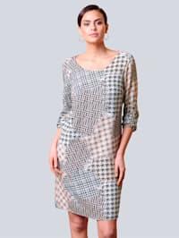 Kleid allover im Hahnentrittmuster