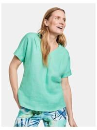 Blusenshirt aus Viskose-Leinen