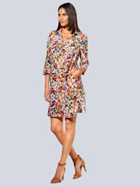 Kleid allover im farbenfrohem Print