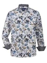 Skjorta med tryckt blommönster