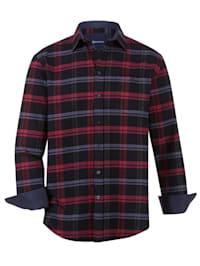 Flanellskjorta med bröstficka