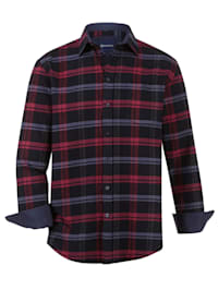 Flanelová košile s 1 náprsní kapsou