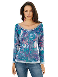 Pullover im Allover-Print