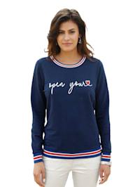 Sweatshirt met opschrift voor