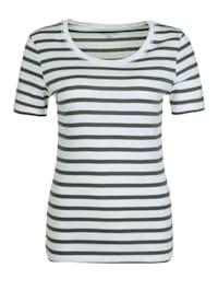 T-Shirt mit Streifen .