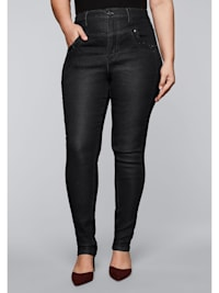 Jeans in High-Waist-Form