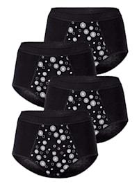 Taillenslips im 4er-Pack mit Bauchweg-Funktion