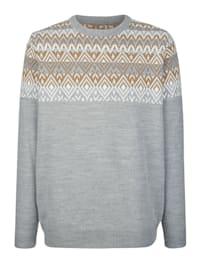 Pulovr s norským pleteným vzorem