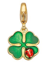 Kleeblatt-Einhänger mit Mariekäfer