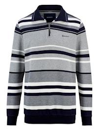Sweatshirt i tvåfärgat material
