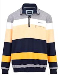 Sweatshirt met fijne structuur