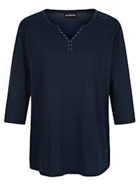 Shirt met kant bij schouders